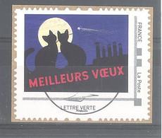 France Collector  Oblitéré  (Ecrire Isabelle Simler : Meilleurs Voeux) (cachet Rond) - Collectors