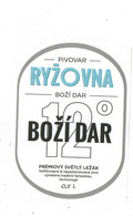 Czech Republic Minibrewery RYZOVNA Near Small City Bozi Dar - Premium Blond Lager, Self-adhesive Label 0,5 L - Birra