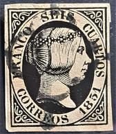 SPAIN 1851 - Canceled - Sc# 6 - Gebraucht