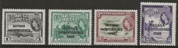 British Guiana 1c To 4c Guyana Independence 1966 Mint QEII - Guyane Britannique (...-1966)