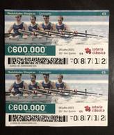 103H, Lottery Tickets, Portugal, « OLYMPIC GAMES », «  CANOAGEM », « CANOEING », 2021 - Loterijbiljetten