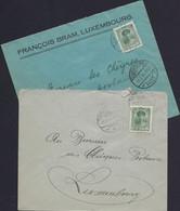Luxembourg - Luxemburg - Lettres  1924 - 1921-27 Charlotte Voorzijde