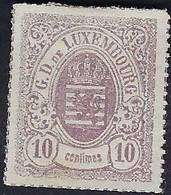 Luxembourg - Luxemburg - Timbres 1865  10C. *  Michel 17 - 1859-1880 Wappen & Heraldik