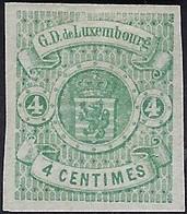 Luxembourg - Luxemburg - Timbres 1874  4C.  *  Gomme  Michel 26  Certifié  Demuth - 1859-1880 Wappen & Heraldik