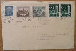 CA011- COVERAUCTION !!!-GERMANY-REICH MI #:714,730,733. HAMBURG 1-12-39 TO ZURICH, NICE LABELS ON BACK - Briefe U. Dokumente
