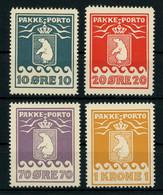 Greenland Parcel Post Stamps 1937 10Ø - 1Kr Perf. 10 3/4 Complete Set MNH ** Full Orig. Gum, MiNr. 7B-11B, Cat. €170 - Spoorwegzegels