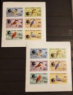 BATUM BIRDS 2 SHEETS IMPERFORED OVERPRINT PHILAKOREA 1994 MNH. - Otros