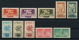 Lebanon 1948 UNESCO Issue Complete MNH ** Full Orig. Gum, Very Good Quality, Yv. 40-44, PA46-50, Cat. €60 - Libanon