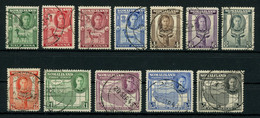 Somaliland Protectorate 1942 KGVI Pictorials Complete Set Of 12 Used, Fault-free Condition, SG 105-116, Cat. £45 - Somaliland (Protectoraat ...-1959)