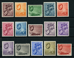 Seychelles 1938-49 KGVI Issue Lot Of MNH ** Stamps With Full Orig. Gum, Fault-free, Great Thematics, Good Value - Seychellen (...-1976)