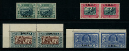 South West Africa 1938 Voortrekker Centenary Issue In Pairs MNH ** Full Orig. Gum, Fault-free, SG 105-108, Cat. £110 - Zuidwest-Afrika (1923-1990)