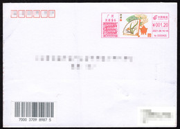 China Canton Postage Machine Meter FDC: Chinese Drama---Folding Fan - Briefe U. Dokumente