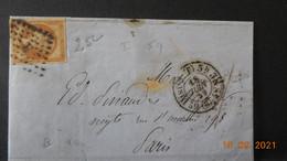 Lettre De 1859 à Destination De Paris Avec Cachet Losange Et Lettre R à L'intérieur - 1849-1876: Période Classique