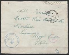 "L. Feldpost Càd ""FELDPOST/09,12,1943"" Pour NOVELLARA + Cachet ""Dienststelle Der Feldpostnummer 20938"" Et Cachets Censeur - Marcophilia"
