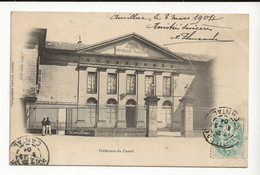 15 AURILLAC Préfecture Du Cantal Carte Envoyée à L'Ecole De Garçons De St Yrieix En 1904 - Aurillac