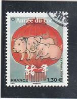 FRANCE 2019 ISSU DU BLOC ANNEE DU COCHON OBLITERE (petit ) YT 5298 - Used Stamps