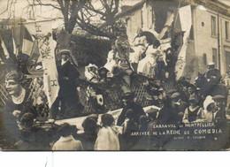 Carte Photo CARNAVAL DE MONTPELLIER  ARRIVEE De La REINE De COMOEDIA RV A Gaudin Photo 1 Rue De La Republique Montpellie - Montpellier