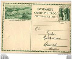 """36-34 - Entier Postal Illustration """"Degersheim"""" 1930 - Attention Légèrement Abîmé à Gauche - Entiers Postaux"""