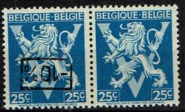 724Q  Paire  **  Surcharge Renversée Et Sans Surcharge - 1946 -10%