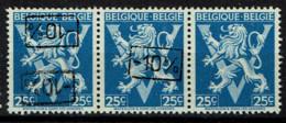 724Q  Bande 3  **  Double Surcharge, Droite Et Sans Surcharge - 1946 -10%