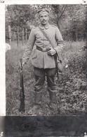 PHOTO ALLEMANDE - GUERRE 14-18 -SOLDAT AVEC ÉQUIPEMENT - Oorlog 1914-18