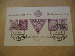 1948 LATVIA IN EXILE Latvian Philatelists Association In Exile Sheet Bloc Proof Epreuve Druck Poster Stamp Vignette - Letonia