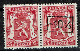 724 G  Paire T1 *  T 2 **  Sans Et Avec  Surcharge - 1946 -10%