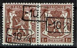 724 N  Paire T1 *  T 2 **  3 Surcharges - 1946 -10%