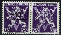 724 Tt  Paire  T1  *  T2 **  Avec Et Sans Surcharge - 1946 -10%