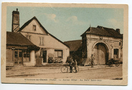10 VILLENEUVE Au CHEMIN Enfants Cyclistes Devant Commerce  Ancien Hotel Au Petit Saint Jean Collect Lorne  D02 2019 - Sonstige Gemeinden