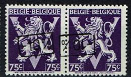 724 Tt  Paire  T1  *  T2 **  Surcharge Droite Et Renversée - 1946 -10%