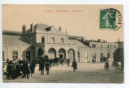 03 MOULINS La Gare Sortie  Voyageurs Diligence 1908 écrite Timbrée    D01 2020 - Moulins