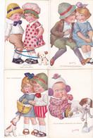 (29)  Lot De 4 Cartes Scènes D' Enfants Ignées JIMMY - Other Illustrators