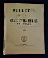 CHOLET 1891 Bulletin De La Société Des Sciences Lettres Et Beaux Arts. Notamment Dictionnaire Noms De Lieux De Cholet - Riviste - Ante 1900