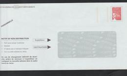 TSC . Douanes Françaises . Luquet . Neuve . 0306989 . Petit E Déchirure Sue La Patte Sur Point De Colle . - Prêts-à-poster:Stamped On Demand & Semi-official Overprinting (1995-...)