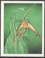 AA1421 SIERRA LEONE PREHISTORIC ANIMALS DINOSAURS REPTILES 1BL MNH - Prehistorisch
