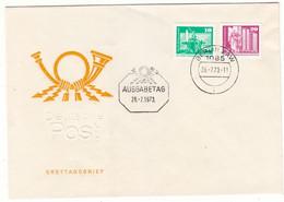 Allemagne - République Démocratique - Lettre De 1973 - Oblit Berlin - Lénine - Fontaines - - Covers & Documents