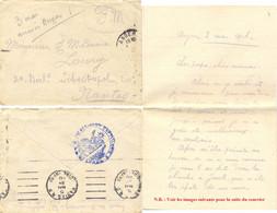 GUERRE 14-18 LAC Du 33e REGIMENT D'ARTILLERIE ANGERS MAINE ET LOIRE Le 3-5-1916 => NANTES OMec GARCIA à L'ARRIVÉE - Guerre De 1914-18