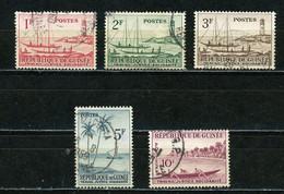 GUINÉE: TRAVAIL JUSTICE (BATEAUX) N° Yvert 8/12 Obli. - Guinea (1958-...)