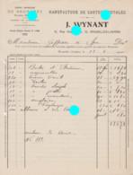 LAEKEN Wynant Manufacture De Cartes Postales 1920 - Printing & Stationeries