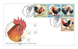 FDC Viet Nam Vietnam With Specimen Stamps, Issued On Aug 25, 2021 : Chicken / Rooster / Cock (Ms1146) - Vietnam
