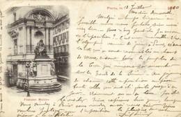 PARIS  Fontaine Molière Pionnière RV Beau Timbre 10c - Arrondissement: 01