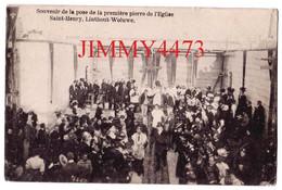CPA - LINTHOUT WOLUWE - Souvenir De La Pose De La Première Pierre De L'Eglise Saint Henry Bruxelles - Fêtes, événements