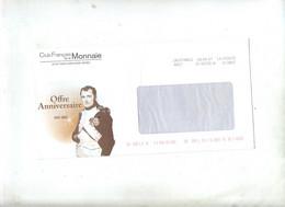 Lettre Destineo  Club Monnaie Illustré Napoleon + Fliers - Altri