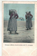 Blankenberge - Porteuses De Marée - VED - Colorisée - Blankenberge