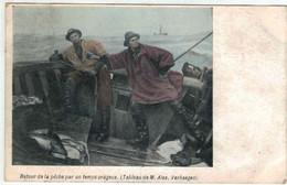 Blankenberge - Retour De La Pêche Par Temps Orageux - VED - Colorisée - Blankenberge