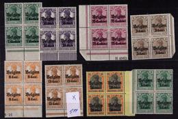 OCCUPATION * LOT DE  BLOC DE 4  à   0,99  Avec 1 Petite Charniere  TOUS COIN Ou BORD DE FEUILLE - Esercito Tedesco