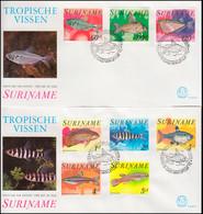 Surinam Tropische Fische 1978 - Satz Auf 2 Schmuck-FDC's - Fische