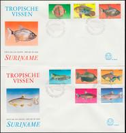 Surinam Tropische Fische 1980 - Satz Auf 2 Schmuck-FDC's - Fische