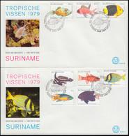 Surinam Tropische Fische 1979 - Satz Auf 2 Schmuck-FDC's - Fische